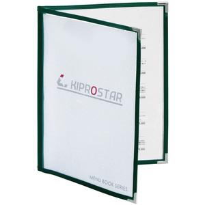 【送料A区分】訳あり 即日発送 メニューブック 4ページ(2枚4面) B5対応 緑 メニュー表 お品書き ファイル テーピング