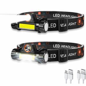 ヘッドライト 充電式 LEDヘッドライト USB 小型軽量 高輝度