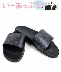 ルイヴィトン サンダル 靴 スリッパ モノグラム・エクリプス×ラバー サイズ8 ウォーターフロント・ライン ミュール  美品 o994
