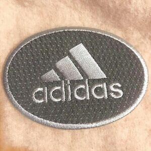 adidas アディダス アイロンワッペン ワッペングレー  刺繍ワッペン