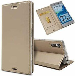 ゴールド Sony Xperia XZ / XZs ソニー Sony Xperia XZ/XZs ケース 手帳型 SO-01J