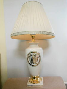 イタリア製 VERSACE ヴェルサーチ テーブルランプ ceramiche ahura アウラ ITALY ナイトスタンド