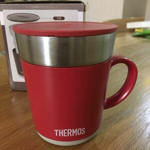 サーモスマグカップ 赤 240ml 保温マグカップ THERMOS