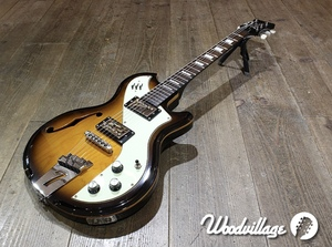 Italia Guitars Mondial Classic イタリアギターズ 50s~60sのビザール風 セミアコ Wilkinson製ピックアップ ピエゾPU搭載 美品 20208007