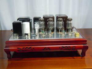 自作 KT66、3結プッシュブルパワーアンプ 電源平滑オールフィルムコンデンサー