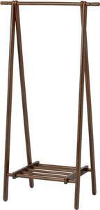 送料無料/ハンガーラック 天然木製ラバーウッド クローゼット収納 折り畳み式 ネクタイ掛け 洋服掛け 帽子掛け 洋服ハンガー ブラウン/新品