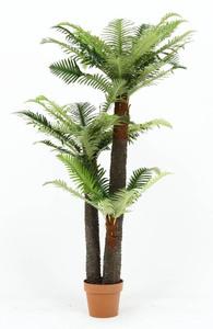 送料無料/フェイクグリーン 観葉植物 シダタイプ 鉢植え リビング 地下 オフィス 店舗 ガーデン インテリア 人工樹木 造花 高さ147cm/新品
