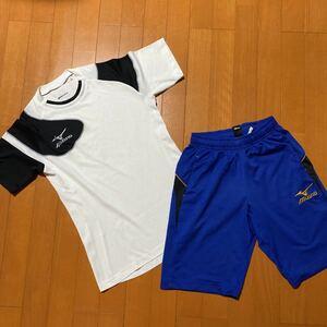 上下セット ハーフパンツ トレーニングウェア プラクティスシャツ 半袖シャツ ショートパンツ ミズノ MIZUNO