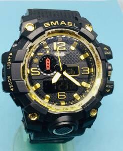 (K29)訳あり(*'▽')ミリタリー・SMAEL(電池交換済)デジアナ・メンズ腕時計USED(送料全国一律210円)大き目のデジアナです。