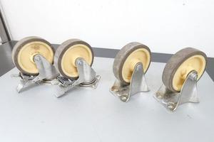 4個セット 150mm ハンマーキャスター キャスター 自在キャスター/固定キャスター ブレーキ付 台車 車輪