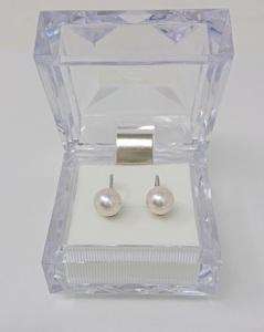 新品仕上品 (中古) アコヤ真珠イヤリング 7.5mm ケース付き シルバー 鑑定済 クリーニング済 パールイヤリング
