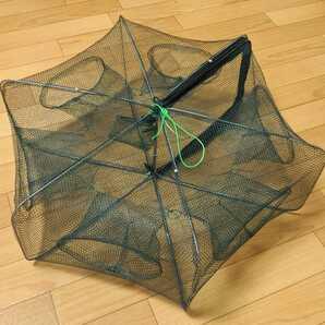 魚獲り網 漁具 罠 大型 6角形 折り畳み式 コンパクト 釣り 釣具
