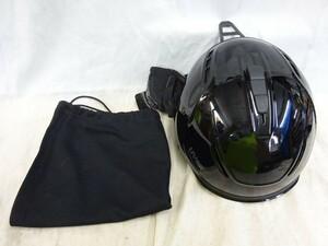 FG930 uvex  шлем  [  б\у  ]  черный   шлем     лыжи   Младший    55-60cm  насадка  дело  (  сумка  есть  )