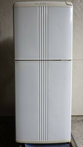 【動作O.K】中古 MITSUBISHI J-club 2ドア 冷凍冷蔵庫 2000年製 MR-13X-H 125L 右開き ホワイト 三菱【手渡し歓迎 板橋区蓮沼町】