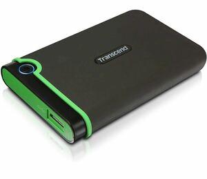 Transcend ポータブルHDD 2TB 耐衝撃 スリムタイプ USB3.1 Gen1