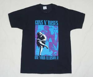 超レア! 90's GUNS N' ROSES 『USE YOUR ILLUSION I』 ツアー Tシャツ LED ZEPPELIN PINK FLOYD AC/DC NIRVANA ROLLING STONES METALLICA