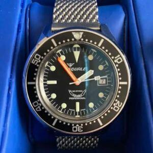 時計 腕時計 SQUALE スクワーレ プロフェッショナルブラック1521-026ダイバーズ 500m防水 自動巻き 美品