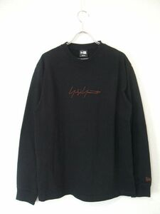 1-0925M▲ Yohji Yamamoto/NEW ERA カットソー  長袖Tシャツ ブラック ヨウジヤマモト/ニューエラ F85295