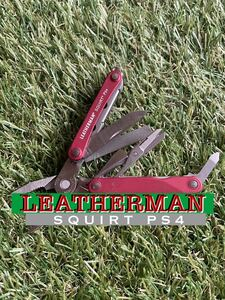 LEATHERMAN SQUIRT PS4 Red レザーマン マルチツール マルチプライヤー ツールナイフ