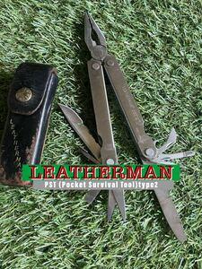LEATHERMAN Pocket Survival Tool (PST) Type2 専用レザーシース付 レザーマン マルチツール