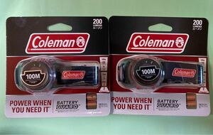 Coleman バッテリーガードLED ヘッドランプ 200 2個セット