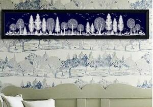 クロスステッチキット フォレスト Forest 一色刺し 刺繍キット 純白の森 クリスマス