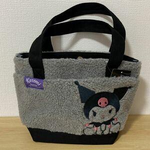 サンリオ クロミ KUROMI もこもこ ボア ミニトートバッグ かわいい