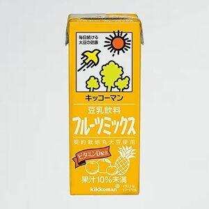 新品 未使用 豆乳飲料 キッコ-マン L-CG 200ml ×18本 フル-ツミックス