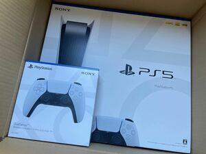 新品未開封☆ PS5 プレステ5 本体 ディスクドライブ搭載 CFI-1100A01+DualSense ワイヤレスコントローラー