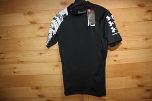未使用アンダーアーマー LG ヒートギア半袖コンプレッションシャツ アーマー ショートスリーブノベルティ 1363304 送料無料即決