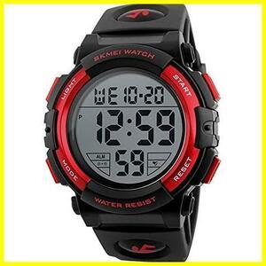 ★即決★★バンド色:ブルー★ 防水腕時計 led watch JAKA メンズ スポーツウォッチ Timever(タイムエバー)デジタル腕時計 アラーム
