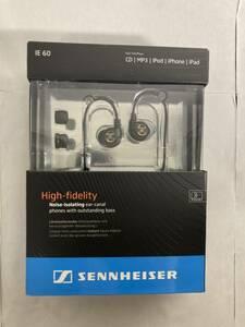 新品未使用 送料無料 ゼンハイザー カナル型イヤホン 耳かけ式 IE 60