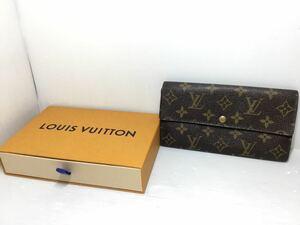 [K-WTNB] 1円スタート♪ ルイヴィトン♪ TH0968 LOUIS VUITTON 長財布 モノグラム ポルトフォイユ メンズにも♪ 売り切り! おまけ箱付き♪