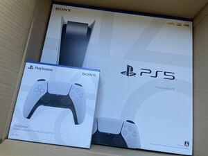 新品未開封 ☆ PS5 PlayStation5 プレステ5 本体 ディスクドライブ搭載モデル CFI-1100A01+DualSense ワイヤレスコントローラー白 ☆ 新型