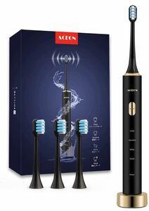 電動歯ブラシ 音波歯ブラシ IPX7防水 歯ブラシ 替えブラシ4本 ソニック 4モード USB充電