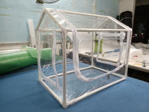 超小型 ビニールハウス 簡易温室 ビニール温室 菜園ハウス ミニ 組立式 ファスナー付き 育苗 家庭用 園芸 PVC素材