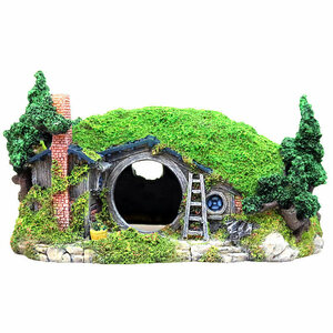 庭園風 アクアリウム用品 水槽用 アクセサリー オーナメント 隠れ家 樹脂 洞窟 岩山 家 レイアウト用 観賞魚 熱帯魚 置物