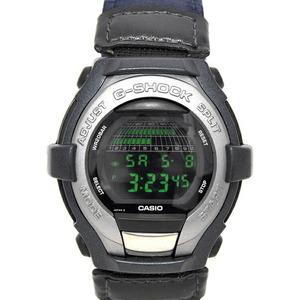 カシオ 腕時計 SHOCK RESISTANT シルバー ネイビー GT-001 1595 可動品 デジタル プラスチック