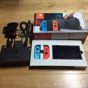 1円~そこそこ美品 Nintendo Switch 本体 スイッチ ネオンブルー ネオンレッド 初期化 動作確認済み USED 中古