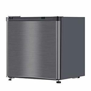 ガンメタリック 46L maxzen 小型 一人暮らし 冷蔵庫 46L 1ドアミニ冷蔵庫 右開き コンパクト ガンメタリック J