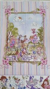ロラライハリス フェアリー 廃盤 レア USAコットン パッチワーク Fairy パネル クッション 大きい 大柄