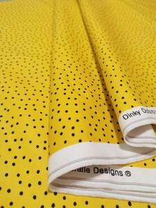 ロラライハリス Dinky Dots イエロー 黄色 ブラックドット