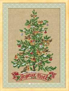 クロスステッチキット■クリスマスツリーと小鳥たち■刺繍キット◆ノエル