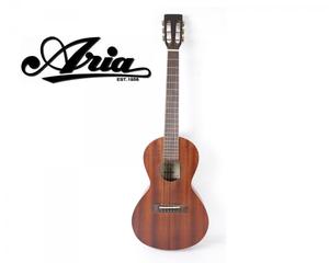 Aria ASA-18N アリア ミニアコースティックギター ブラウン系 全長約92.5cm 弦楽器 演奏 引き語り バンド FCAN17