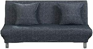 新品 ダークグレー Sサイズ Laikor ソファーカバー ソファーベッドカバー ストレッチ 伸縮素材 シンプル 防WZ97