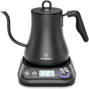 【MK20ケトル ち】MOOSOO(モーソー) MK20 電気ケトル 0.8L 温度調節/保温機能/空だき防止 1℃刻みで調整可能 細口 コーヒー ドリップケトル