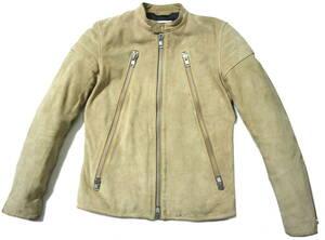 ラフ/お洒落!◆VANQUISH ヴァンキッシュ 牛革スエード レザージャケット◆Mサイズ(身長168-171センチ位)
