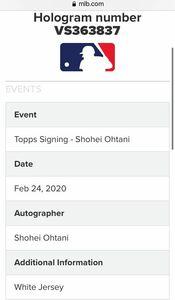 MLB公式証明付き 大谷翔平選手 直筆サインユニフォーム 白 アナハイム エンゼルス