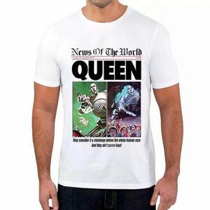 QUEEN Tシャツ バンドTシャツ バンT クイーン NEWS OF THE WORLD