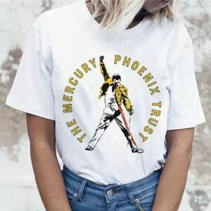 QUEEN Tシャツ Freddie Mercury バンドTシャツ バンT クイーン フレディマーキュリー 半袖Tシャツ Vol.7